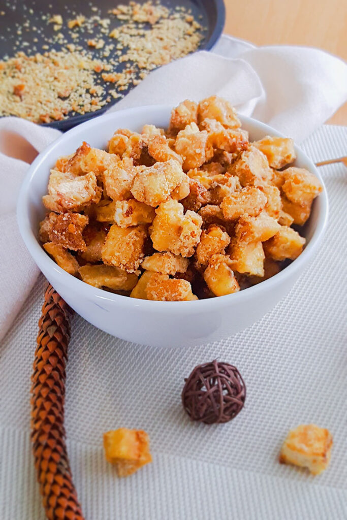 SALTED CARAMEL BREAD CROUTONS