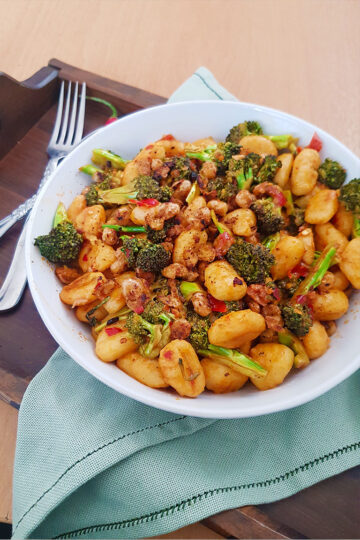 pan fried gnocchi with broccoli