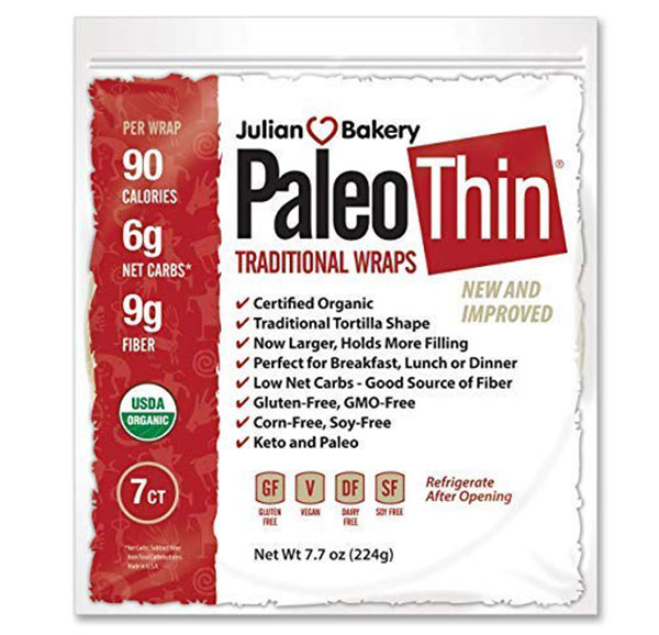 Julian Bakery, Organic Paleo Wraps