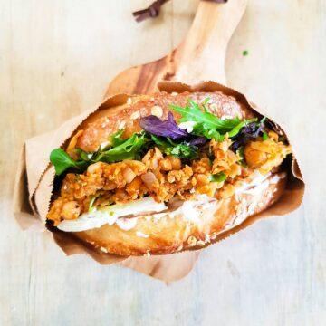 Buffalo chickpea sandwich