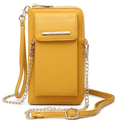 Mustard color Crossbody bag with chain sling