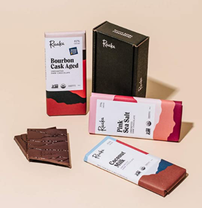 raaka vegan chocolate bars 3 flavors