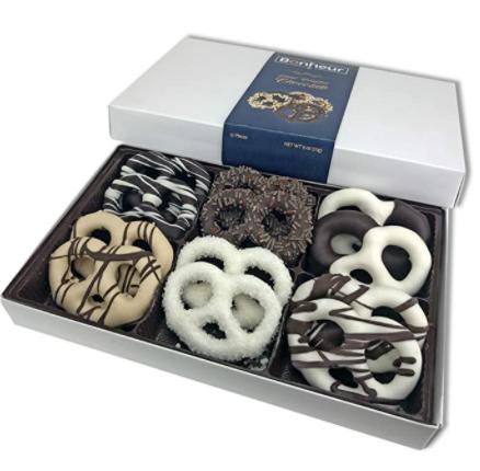 chocolate covered pretzels box