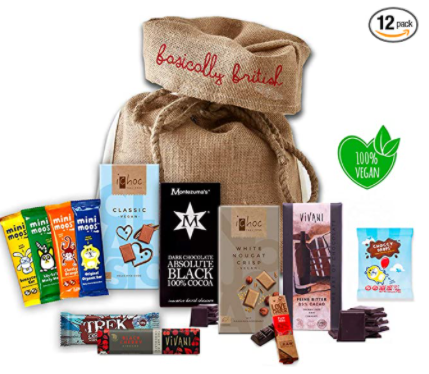 vegan chocolates and snacks pack