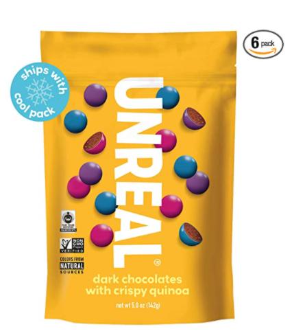unreal chocolate covered quinoa snack