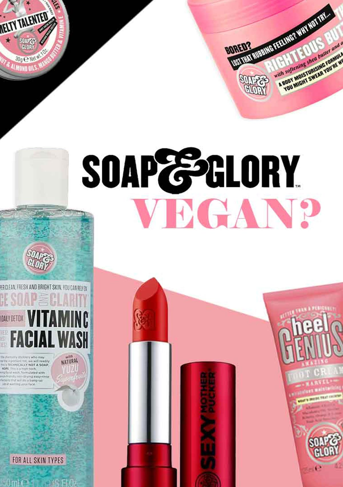 soap and glory vegan products