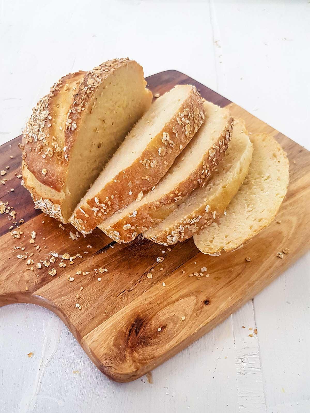 sliced bread dough for storing