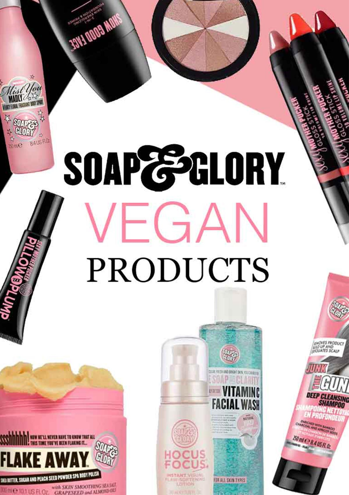 soap and glory vegan products list