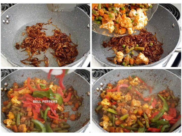 vegetable gravy process for vegan biryani