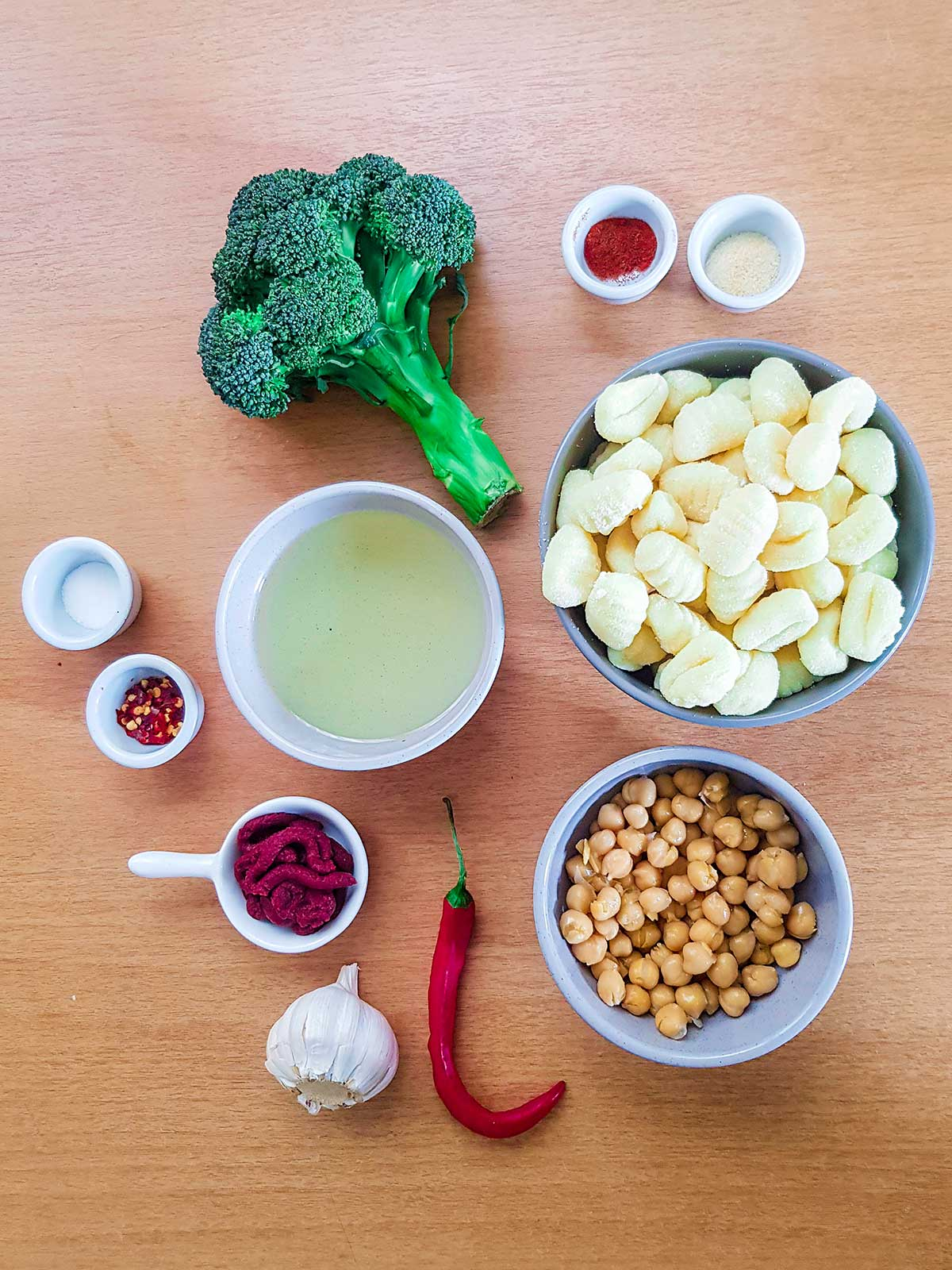 pan fried gnocchi with broccoli ingredients