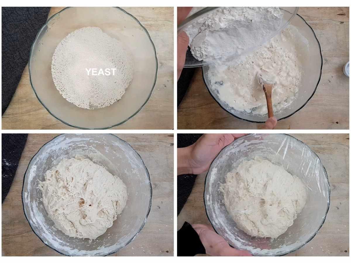 how to prepare dough for no knead bread