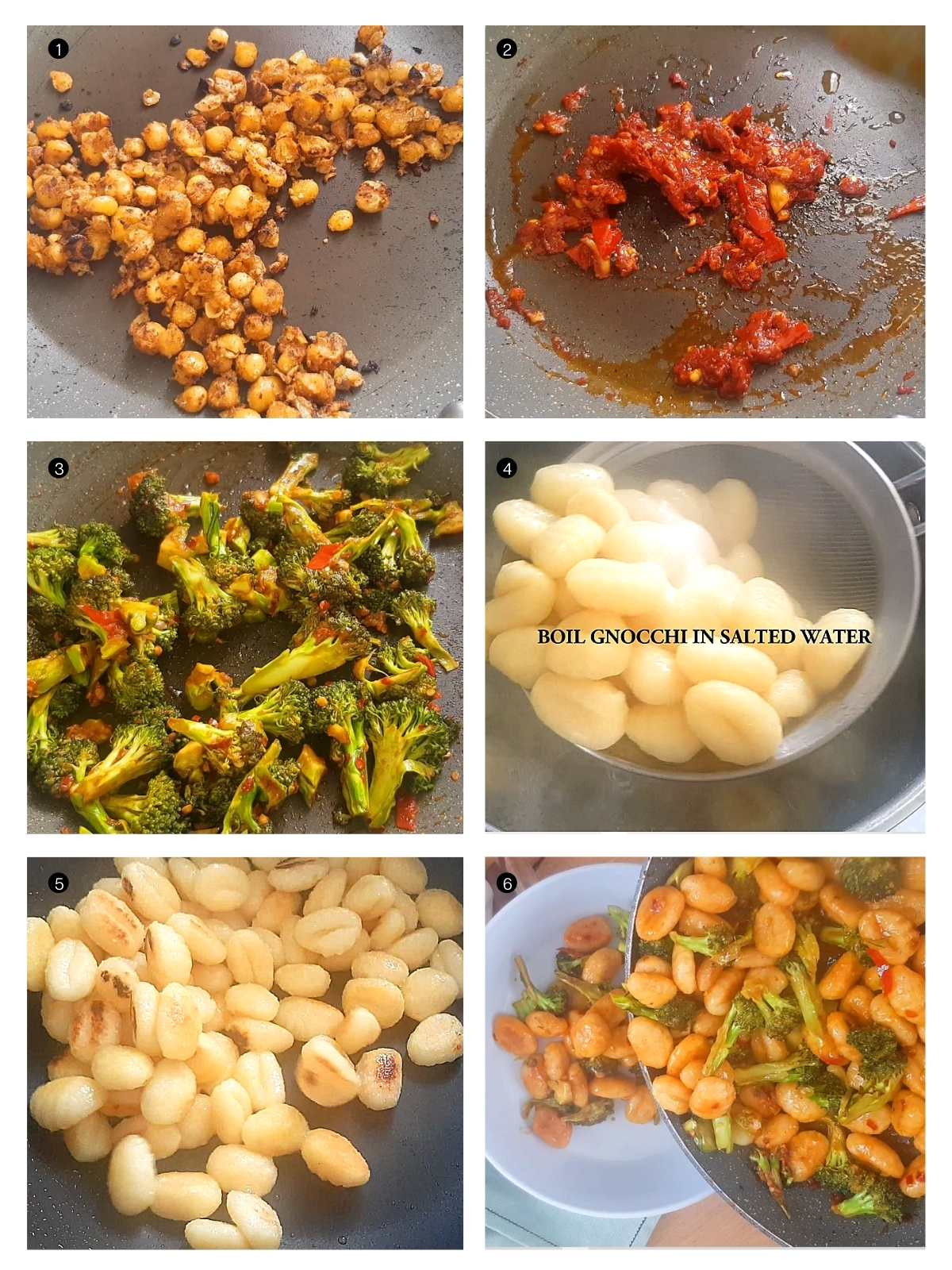 step by step pan fried gnocchi with broccoli recipe