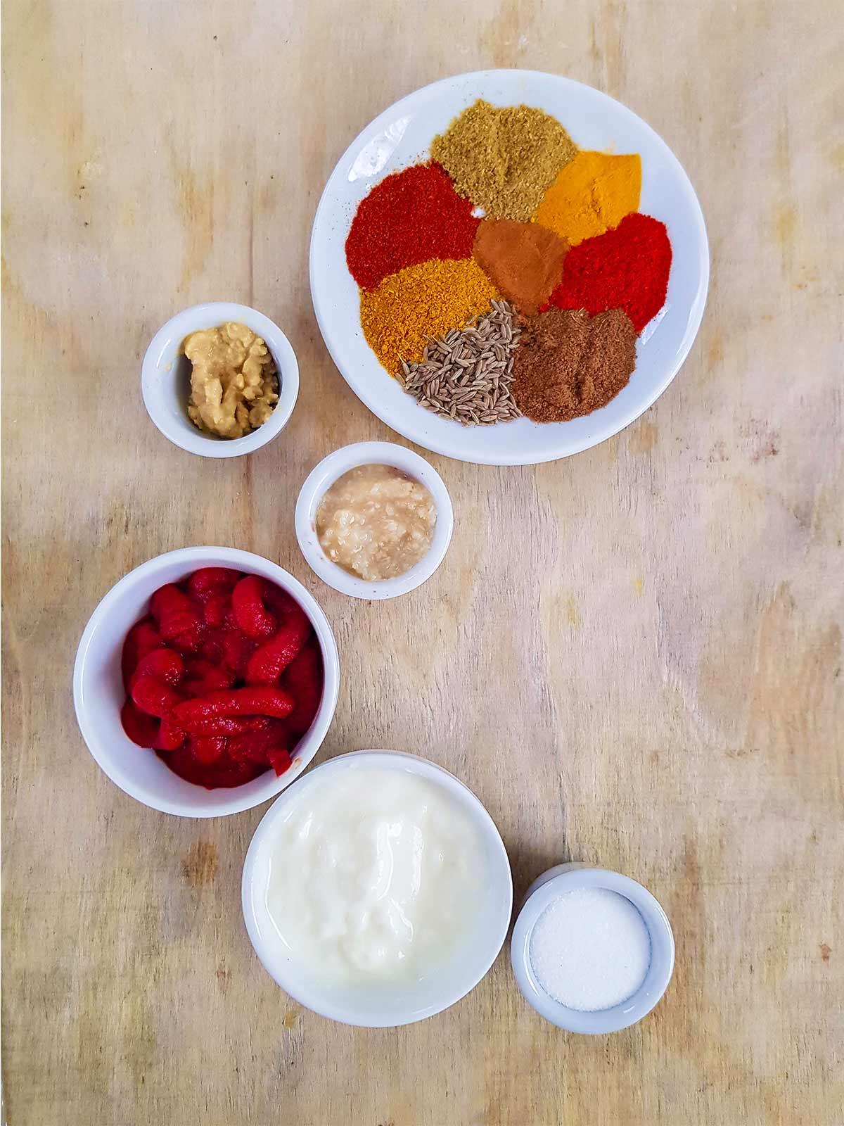 Marination batter spices for vegetables