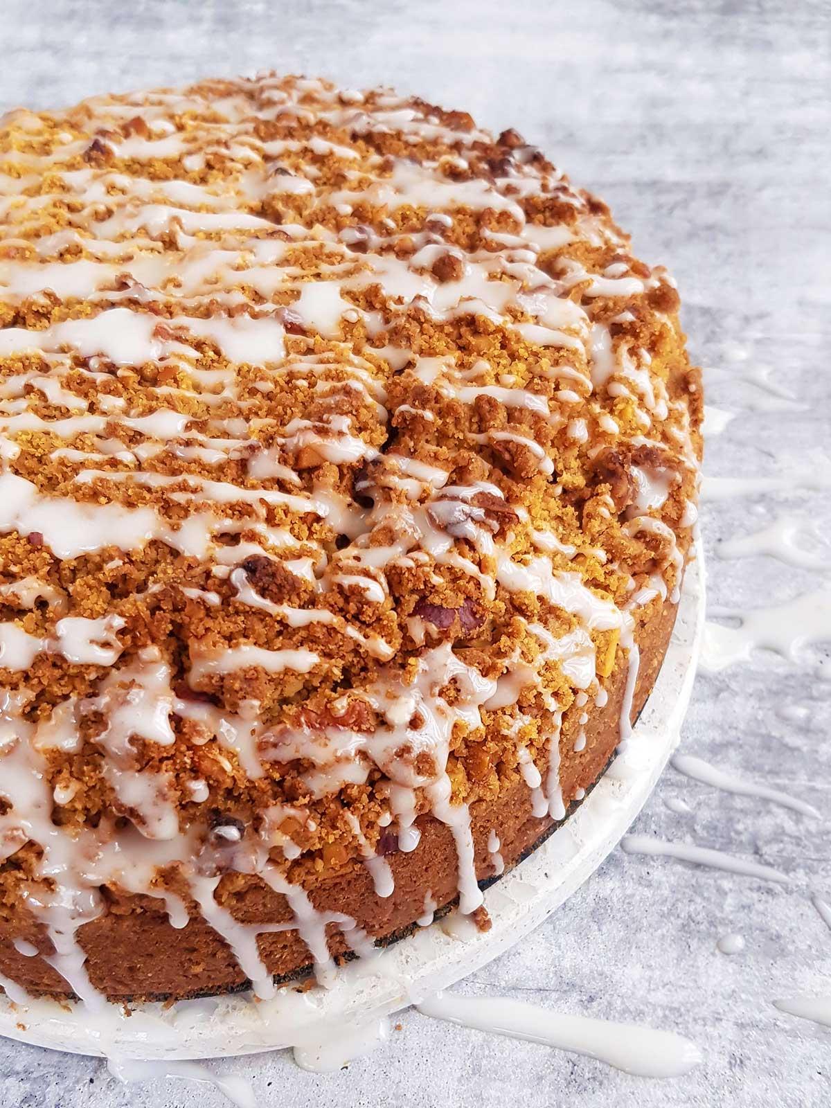 Vegan Coffee cake with Cinnamon Streusel