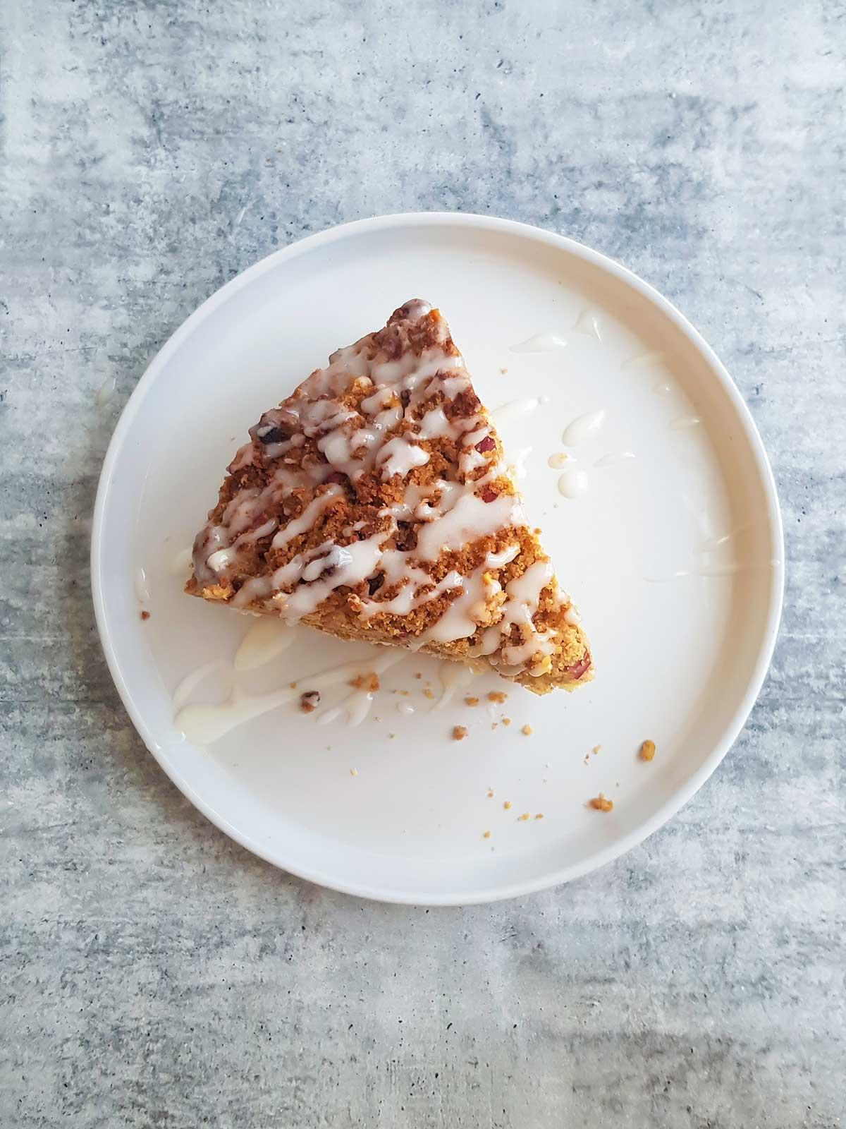vegan coffee cake slice