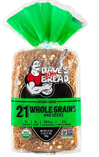 Dave's Killer 21 Whole Grains and Seeds vegan bread