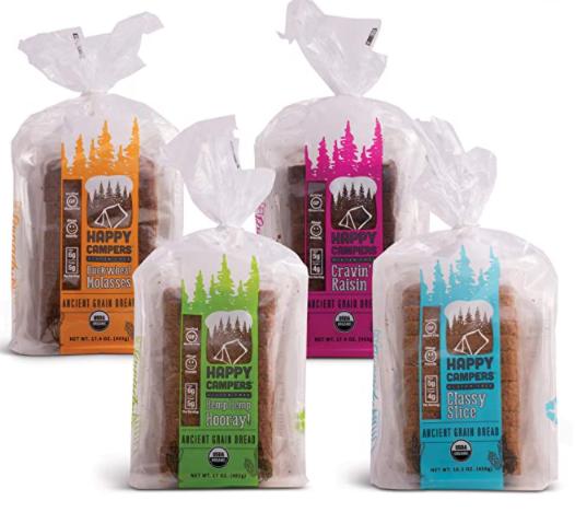 Happy Campers Gluten Free vegan  Bread 4 pack