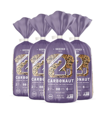 Carbonaut Low Carb Seeded Bread pack of four