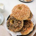 vegan bagel stack