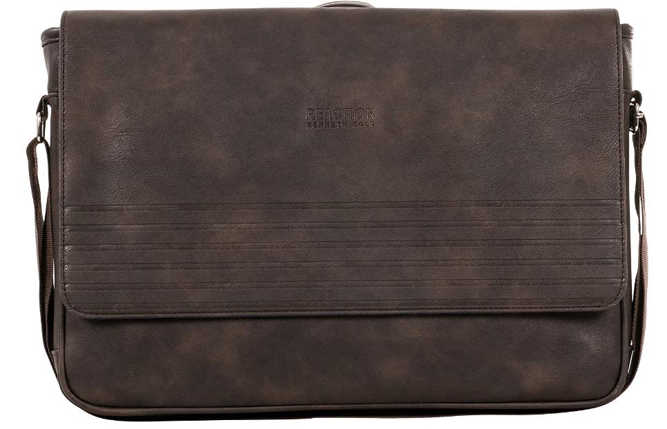 Brown color vegan leather bag