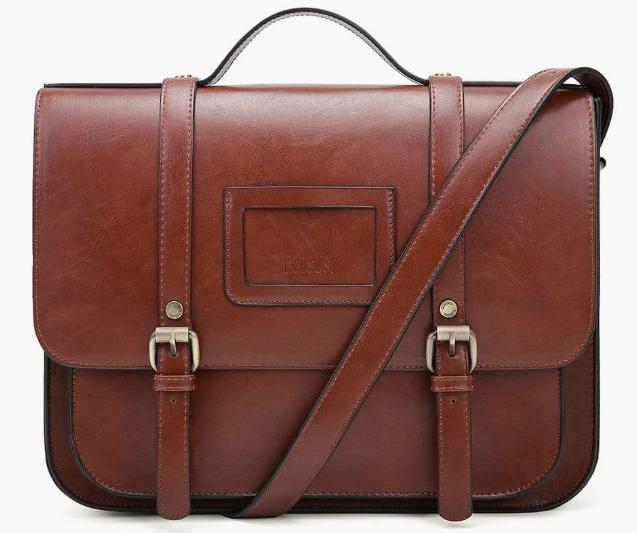 dark brown PU leather bag