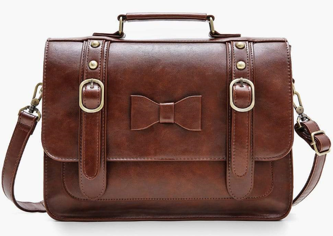 brown color vegan leather bag for women