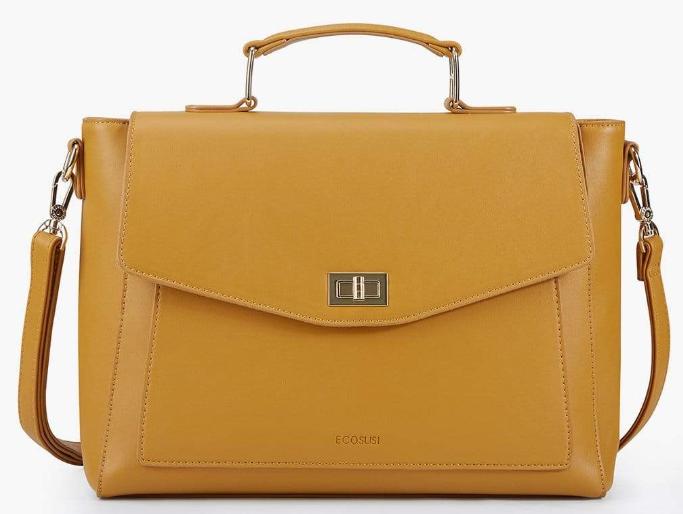 yellow color messenger bag