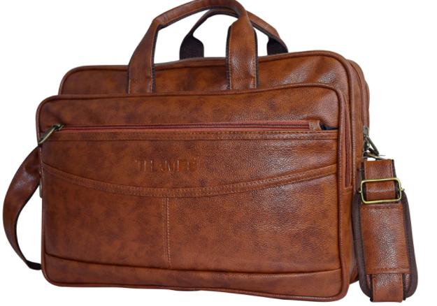 brown vegan leather bag