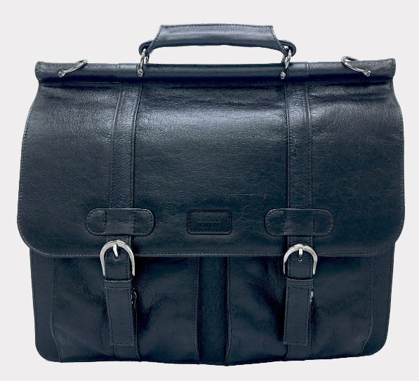 vegan leather black color bag with top handles