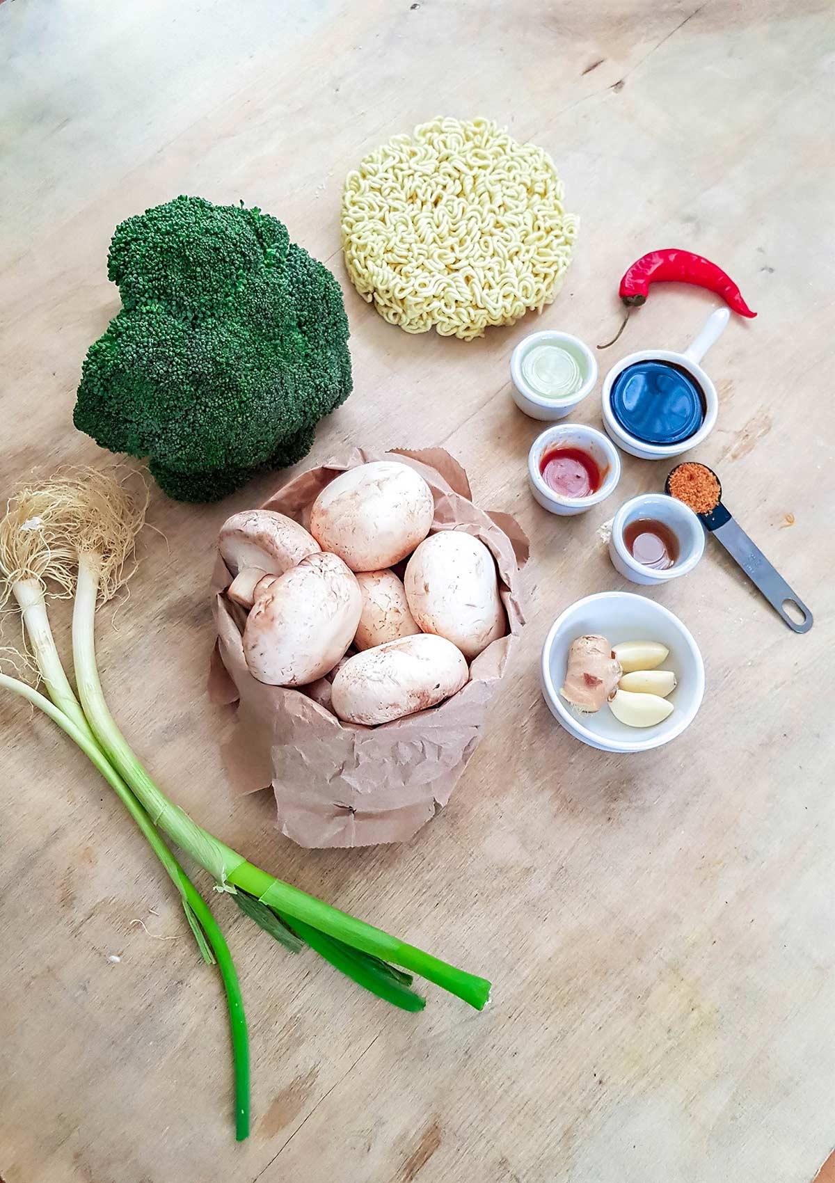 Ramen stir fry vegan ingredients