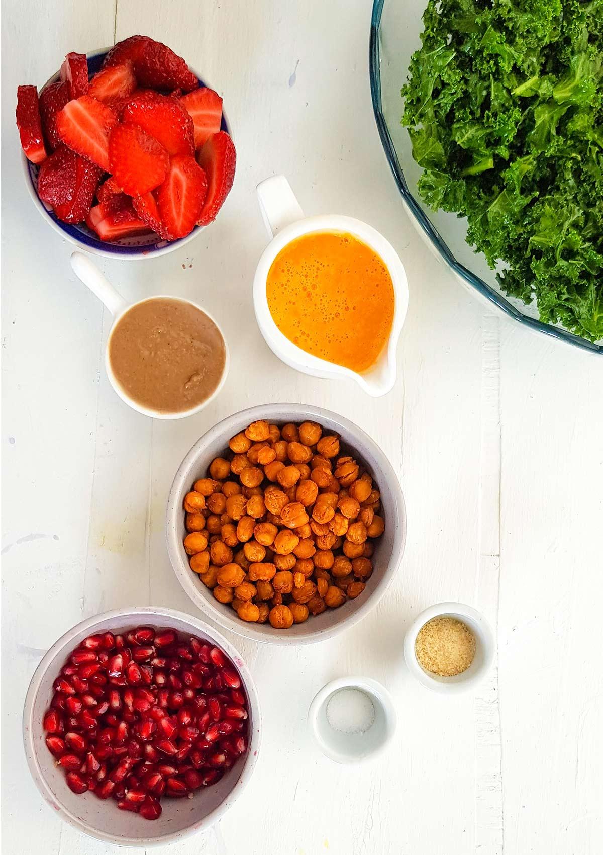ingredients to make kale salad