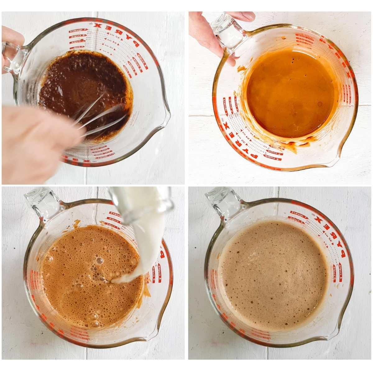 step by step how to make iced oat milk latte