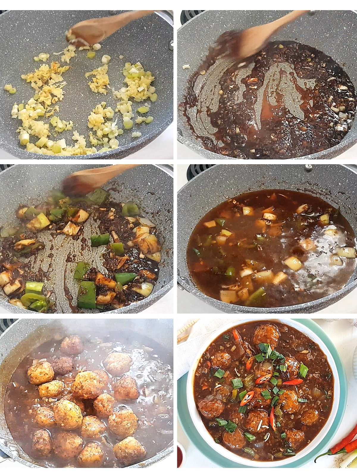process shots of how to make gravy