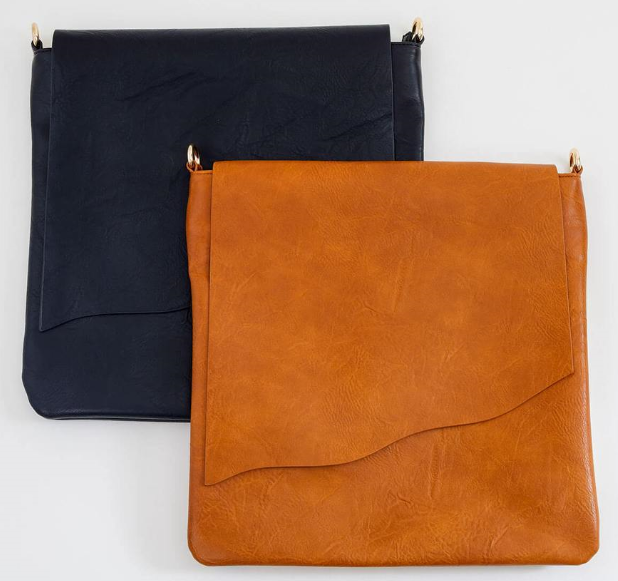 flap messenger bag in two colors
