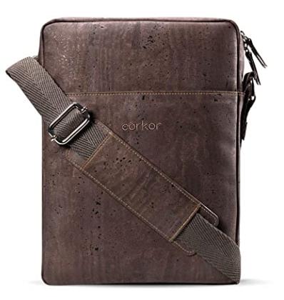 Brown color vegan mini messenger bag