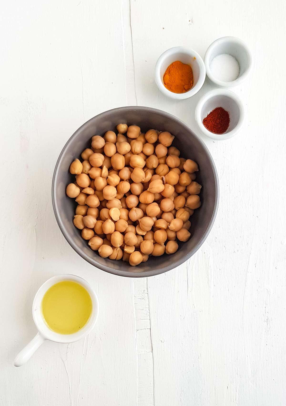 roasted turmeric chickpeas ingredient