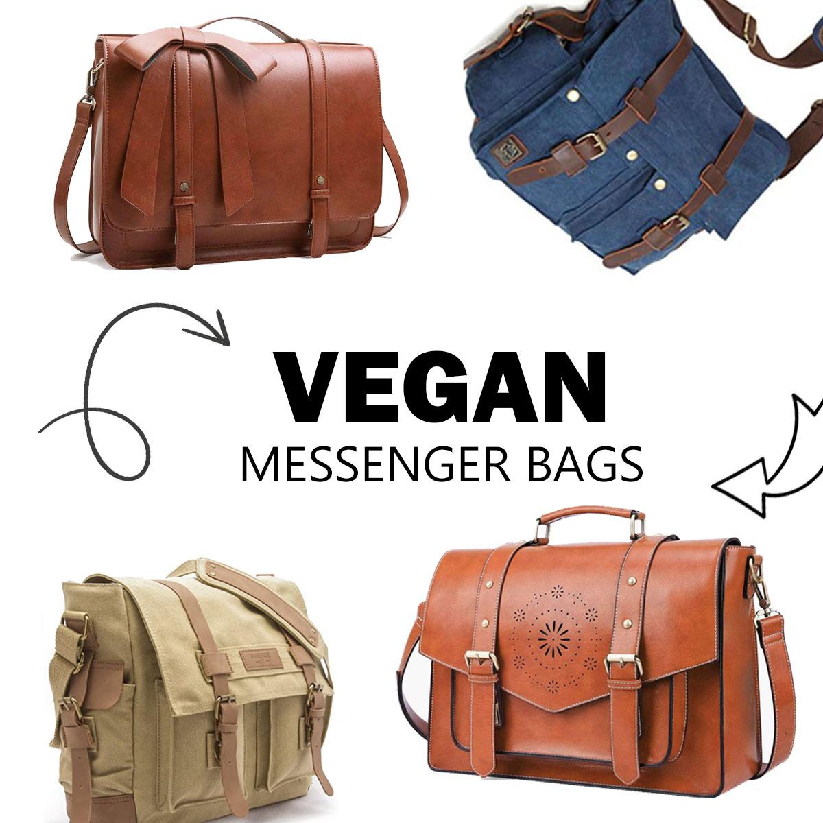 Vegan messenger bags in different colors