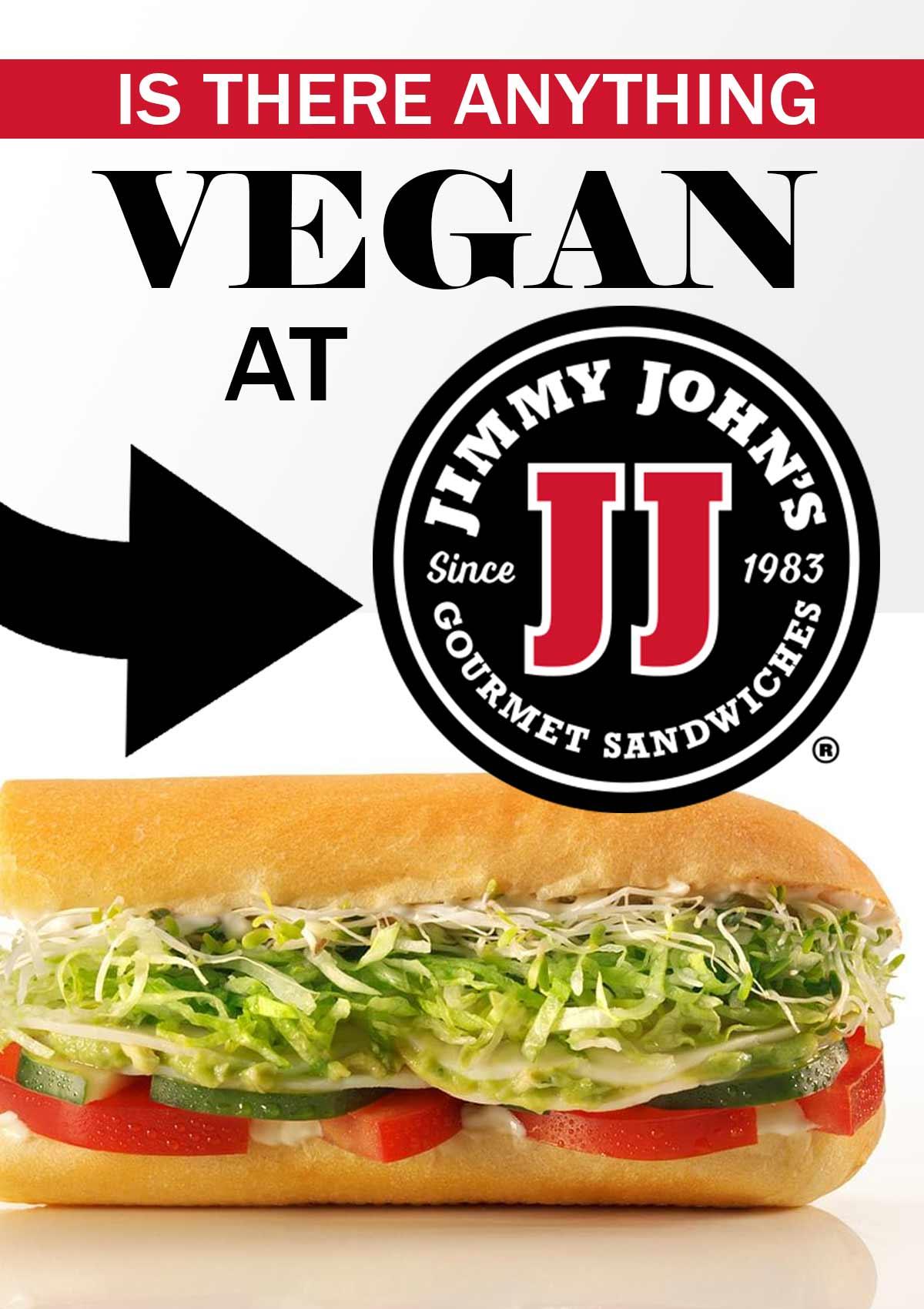 vegan options at jimmy johns.
