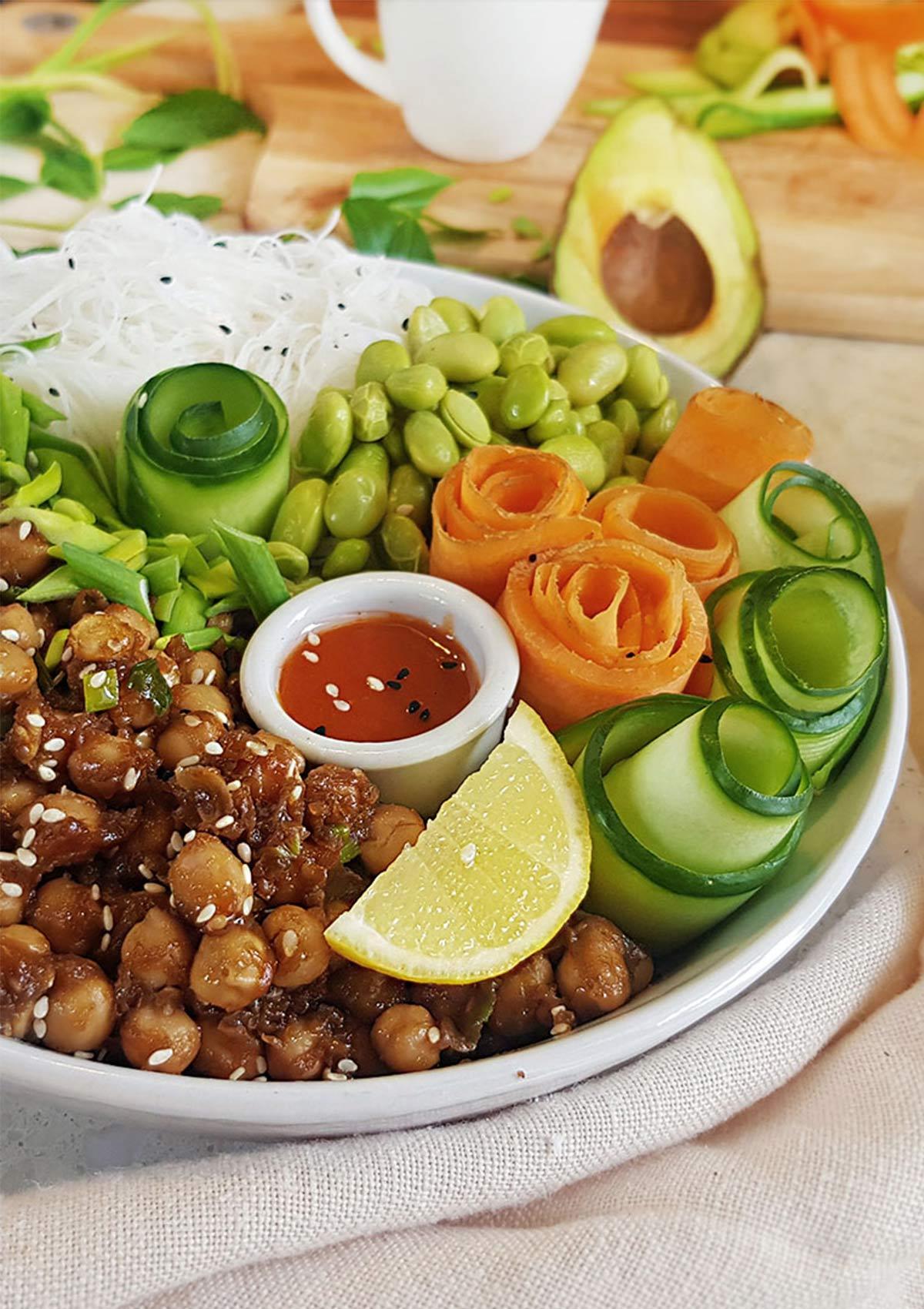 No Tofu vegan poke bowl