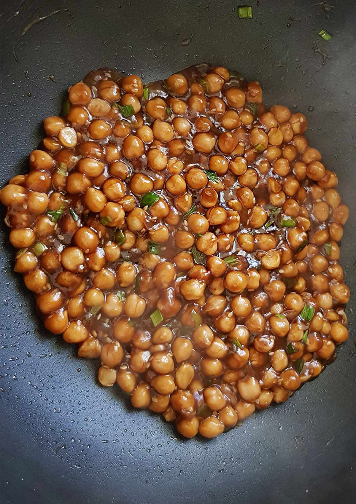 Chickpea Marinade for poke bowl
