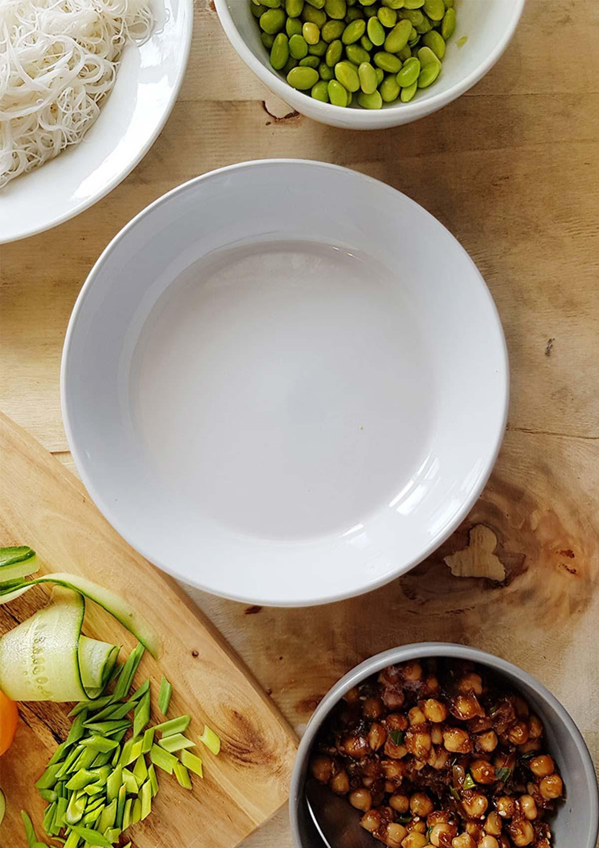 How to Assemble Vegan Poke Bowl