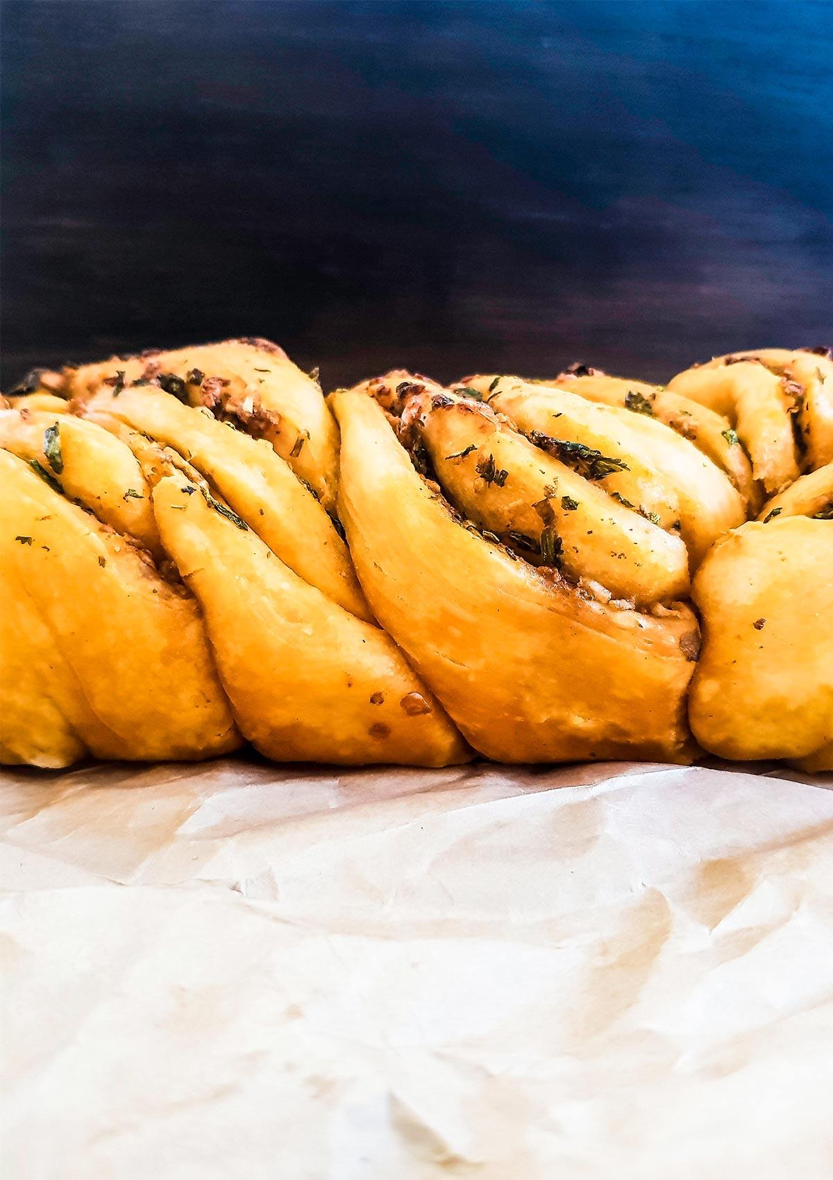 babka bread side view